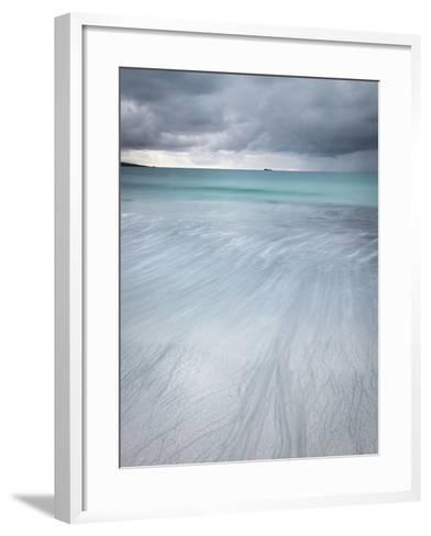 Approaching Storm over West Beach, Berneray, Outer Hebrides, Scotland-Stewart Smith-Framed Art Print