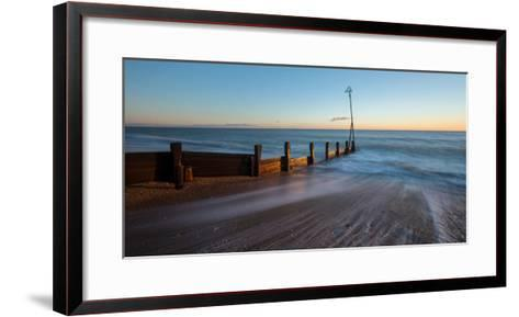 A View of a Groyne at Hayling Island-Chris Button-Framed Art Print