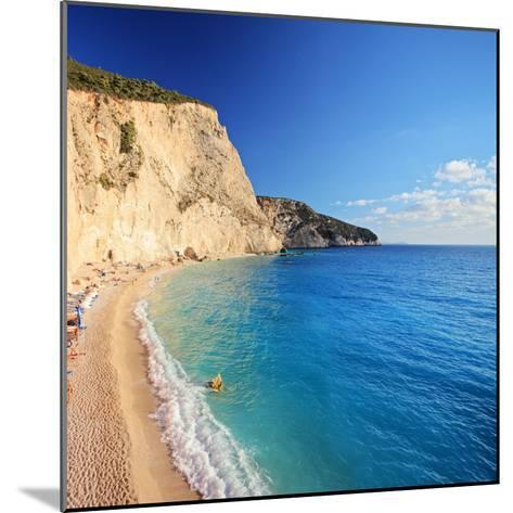 A View of a Beach at Lefkada Island, Greece, Shot with a Tilt and Shift Lens-Ljsphotography-Mounted Photographic Print