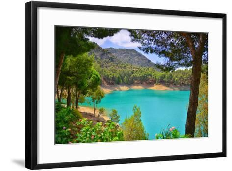 Aqua Lake-Neil Charles Roberts-Framed Art Print
