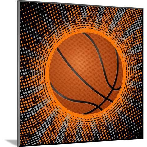 Abstract Grunge Basketball. Illustration- Julydfg-Mounted Art Print