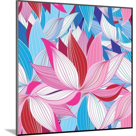 Beautiful Lotus Flower Pattern-Tatiana Korchemkina-Mounted Art Print