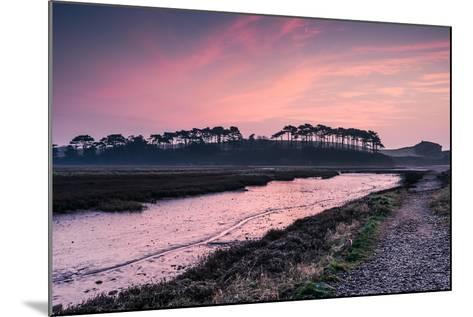 Budleigh Salterton Estuary at Sunrise, South Devon Natural Reserve, UK-Marcin Jucha-Mounted Photographic Print
