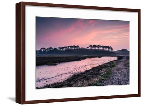 Budleigh Salterton Estuary at Sunrise, South Devon Natural Reserve, UK-Marcin Jucha-Framed Art Print