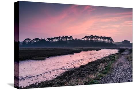 Budleigh Salterton Estuary at Sunrise, South Devon Natural Reserve, UK-Marcin Jucha-Stretched Canvas Print
