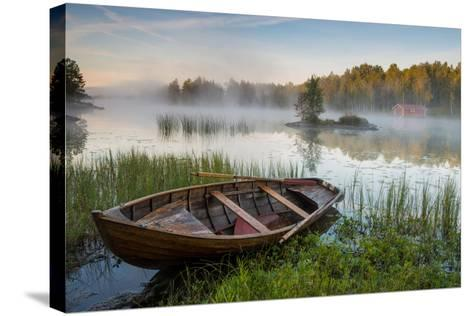 A Beautiful Morning at the Lake-Robin Eriksson-Stretched Canvas Print