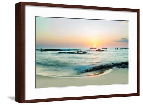 Beautiful Sunset in Khao Lak Thailand-Remy Musser-Framed Art Print