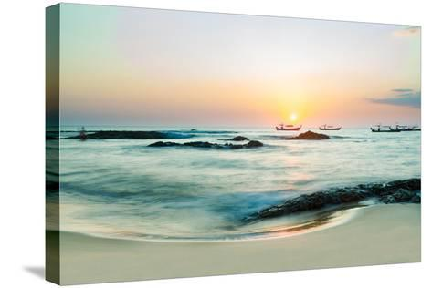 Beautiful Sunset in Khao Lak Thailand-Remy Musser-Stretched Canvas Print