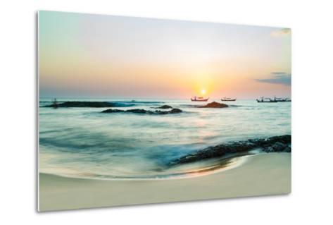 Beautiful Sunset in Khao Lak Thailand-Remy Musser-Metal Print