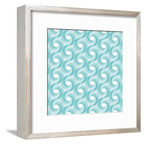 Background Illustration with Abstract Geometric Shapes-robodread-Framed Art Print