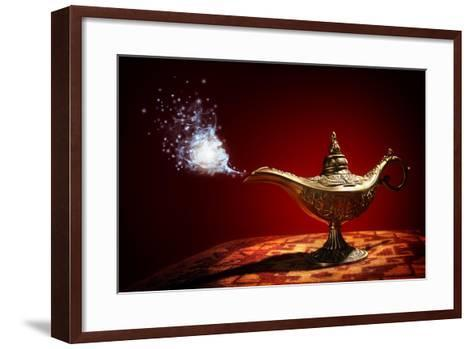 Magic Aladdins Genie Lamp-Brian Jackson-Framed Art Print