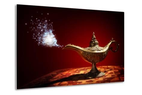 Magic Aladdins Genie Lamp-Brian Jackson-Metal Print