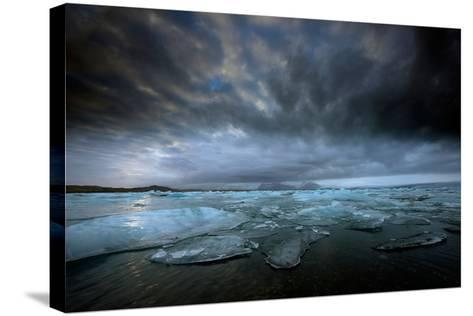 Jökulsárlón Lagoon and Ice-Ann Clark Landscapes-Stretched Canvas Print