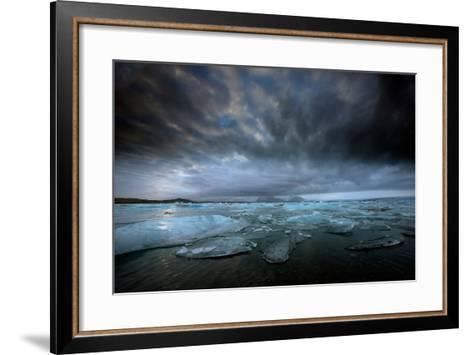 Jökulsárlón Lagoon and Ice-Ann Clark Landscapes-Framed Art Print