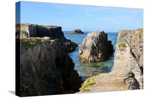 Rocky Coastline of Quiberon in France-Christian Musat-Stretched Canvas Print