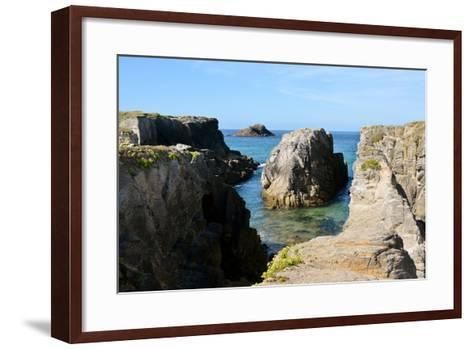 Rocky Coastline of Quiberon in France-Christian Musat-Framed Art Print