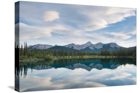 Rocky Reflection-Brent Beach-Stretched Canvas Print