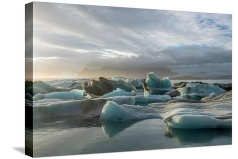 Jokulsarlon in Iceland - the Glacier or Glacial Lake - with Chunks of Iceberg Floating- Freespirittravel-Stretched Canvas Print