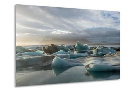 Jokulsarlon in Iceland - the Glacier or Glacial Lake - with Chunks of Iceberg Floating- Freespirittravel-Metal Print