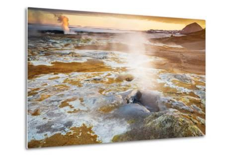 Geothermal Hot Springs, Mud Pots and Fumaroles, Namaskard Close to Lake Myvatn, Northern, Iceland-Ragnar Th Sigurdsson-Metal Print
