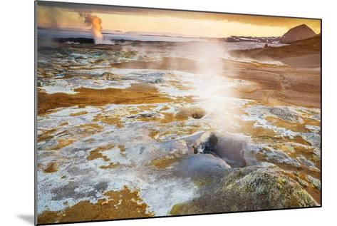 Geothermal Hot Springs, Mud Pots and Fumaroles, Namaskard Close to Lake Myvatn, Northern, Iceland-Ragnar Th Sigurdsson-Mounted Photographic Print