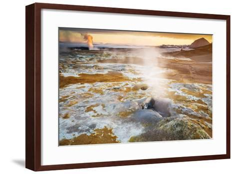 Geothermal Hot Springs, Mud Pots and Fumaroles, Namaskard Close to Lake Myvatn, Northern, Iceland-Ragnar Th Sigurdsson-Framed Art Print