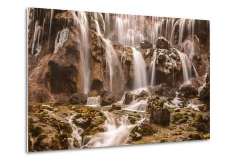 Pearl Shoals Waterfall in Jiuzhaigou National Park, China-John Crux-Metal Print