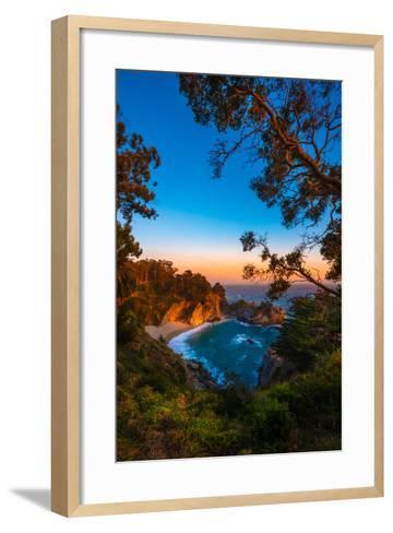 Mcway Falls Julia Pfeiffer Burns State Park, Near Carmel California Usa-Kris Wiktor-Framed Art Print
