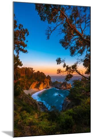 Mcway Falls Julia Pfeiffer Burns State Park, Near Carmel California Usa-Kris Wiktor-Mounted Photographic Print