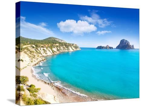 Es Vedra Island of Ibiza View from Cala D Hort in Balearic Islands-Natureworld-Stretched Canvas Print