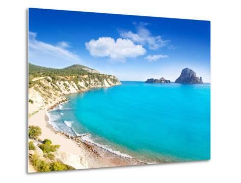 Es Vedra Island of Ibiza View from Cala D Hort in Balearic Islands-Natureworld-Metal Print