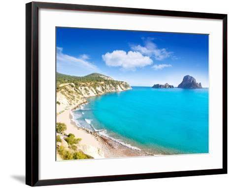 Es Vedra Island of Ibiza View from Cala D Hort in Balearic Islands-Natureworld-Framed Art Print