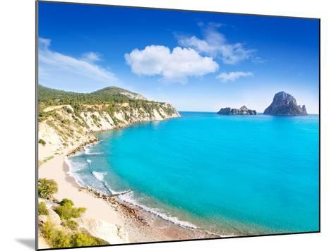 Es Vedra Island of Ibiza View from Cala D Hort in Balearic Islands-Natureworld-Mounted Photographic Print