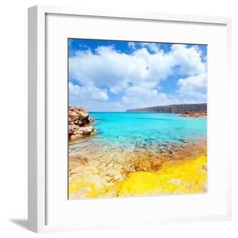 Es Calo De San Agusti in Formentera Balearic Islands-Natureworld-Framed Art Print