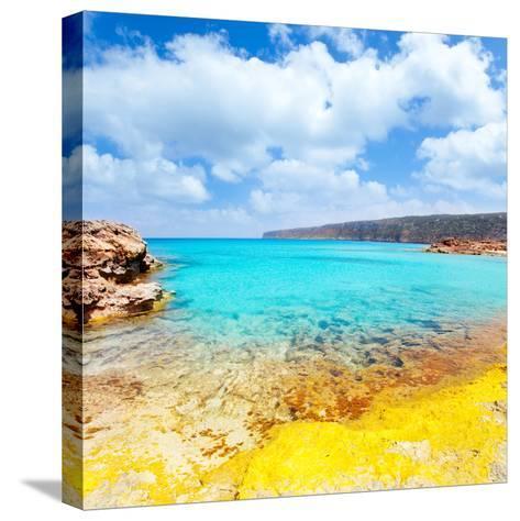 Es Calo De San Agusti in Formentera Balearic Islands-Natureworld-Stretched Canvas Print