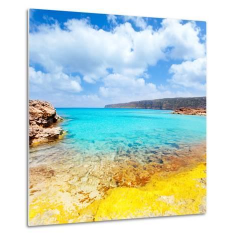 Es Calo De San Agusti in Formentera Balearic Islands-Natureworld-Metal Print