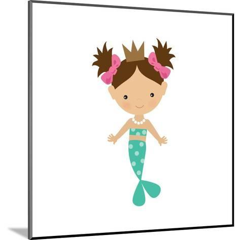 Mermaid,Girl,Cute,Funny,Vector,Cartoon,Illustration-Svetlana Peskin-Mounted Art Print