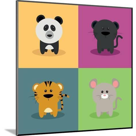 Cute Cartoon Animals-Nestor David Ramos Diaz-Mounted Art Print