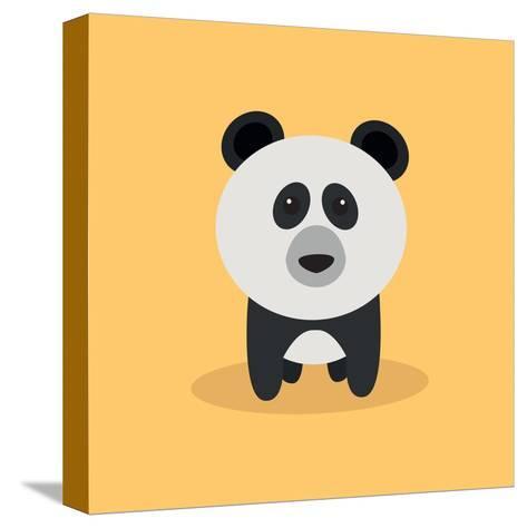 Cute Cartoon Panda-Nestor David Ramos Diaz-Stretched Canvas Print