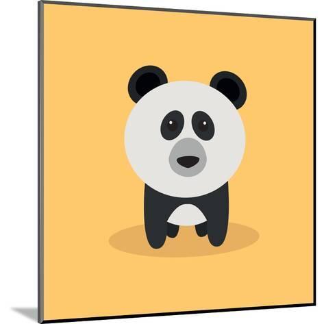 Cute Cartoon Panda-Nestor David Ramos Diaz-Mounted Art Print