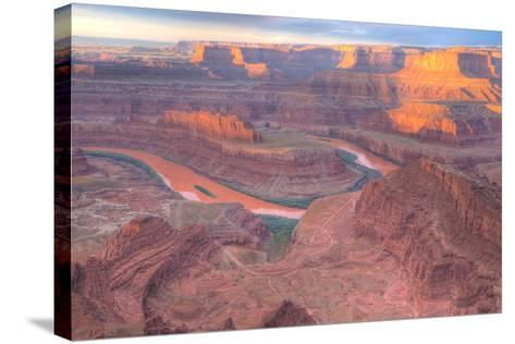 Orange Colorado River, Dead Horse Point, Utah Colored Water from Red Soil Runoff-Tom Till-Stretched Canvas Print