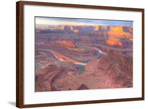 Orange Colorado River, Dead Horse Point, Utah Colored Water from Red Soil Runoff-Tom Till-Framed Art Print