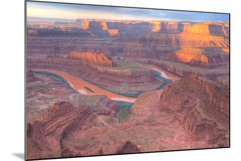 Orange Colorado River, Dead Horse Point, Utah Colored Water from Red Soil Runoff-Tom Till-Mounted Photographic Print