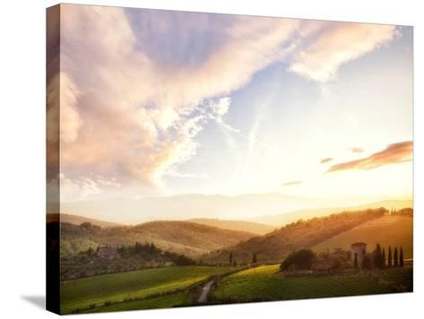 Picturesque Tuscany Landscape at Sunset, Italy-Markus Schieder-Stretched Canvas Print