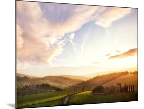 Picturesque Tuscany Landscape at Sunset, Italy-Markus Schieder-Mounted Photographic Print