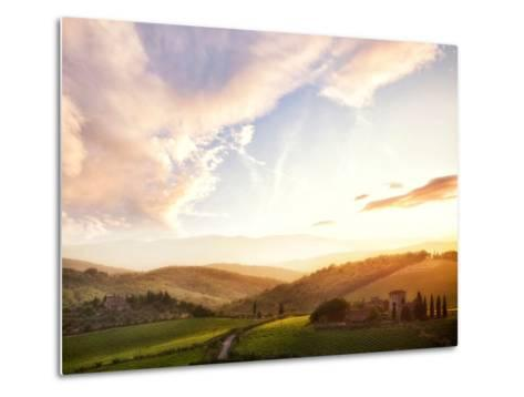 Picturesque Tuscany Landscape at Sunset, Italy-Markus Schieder-Metal Print