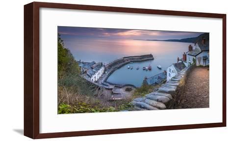 Clovelly Harbour-Terry Mathews-Framed Art Print
