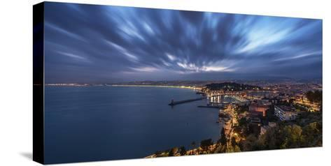 City of Nice-Emmanuel Charlat-Stretched Canvas Print