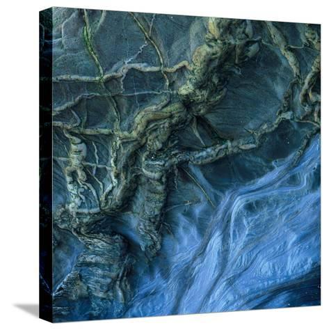 Close-Up of Rock Patterns in the Cliffs at Torcross, Devon, UK-Ed Pavelin-Stretched Canvas Print