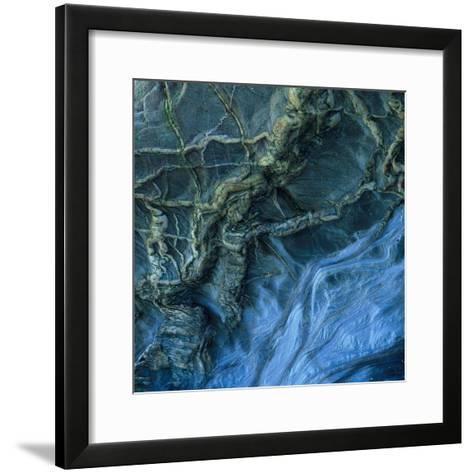 Close-Up of Rock Patterns in the Cliffs at Torcross, Devon, UK-Ed Pavelin-Framed Art Print
